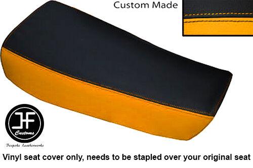 YELLOW BLACK VINYL CUSTOM FOR HUSQVARNA CR 250 430 500 1983 ALLY TANK SEAT COVER