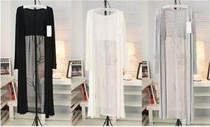 Kimono Kimono Ouvert Cardigan De Long Long Soie Veste Mousseline Femme Épissure 7qfFFx