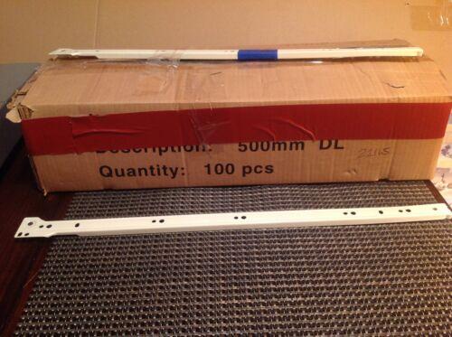 500mm CL GREAT DEAL! DL 4 COMPLETE SETS WHITE DRAWER SLIDES CR DR 4 ea