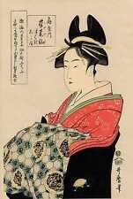 UW»Estampe japonaise Utamaro courtisane 49 G16