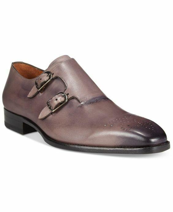 b12319770f1 Zapatos De Vestir para hombres Cuero A Doble Monje Correa Zapatos Hombre a  Medida Mano Hecha nszvni1154-Botas