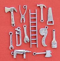 Tool Charm Collection 12 Tibetan Silver Tone Charms Free Shipping E43