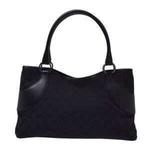 GUCCI-GG-Canvas-black-Hand-Bag-802500030895000