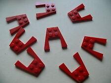 Lego 8 ailerons en V rouge set 7898 7287 8144 / 8 red plate wedge