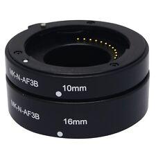 Meike Auto Macro Focus AF Extension Tube Ring Set Adapter for Nikon 1 Mount Lens