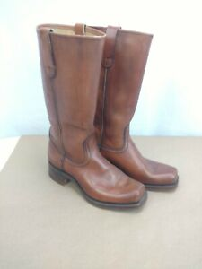 SEARS-Roebuck-Brown-Leather-Western-Cowboy-Boots-Men-039-s-Size-9-EE