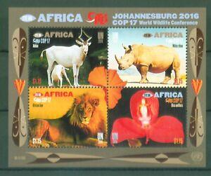 UNO-New-York-2016-Artenschutz-Nashorn-Loewe-Antilope-Orchideen-Block-47