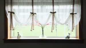 CREAM-VOILE-NET-TIE-BLINDS-WITH-COLOURED-TIES-EXCLUSIVE-DESIGN-8DIFFERENT-WIDTHS