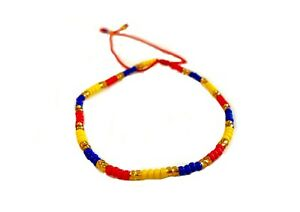 Venezuela Bracelet Venezuela Thread Bracelet Thread Wristband Yellow Blue Red Bracelet Colorful Bracelet Venezuela Jewelry