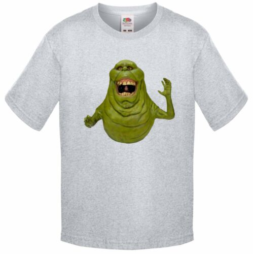 GHOSTBUSTERS SLIMER T SHIRT KIDS CHILDRENS MOVIE CARTOON HALLOWEEN SCARY RETRO