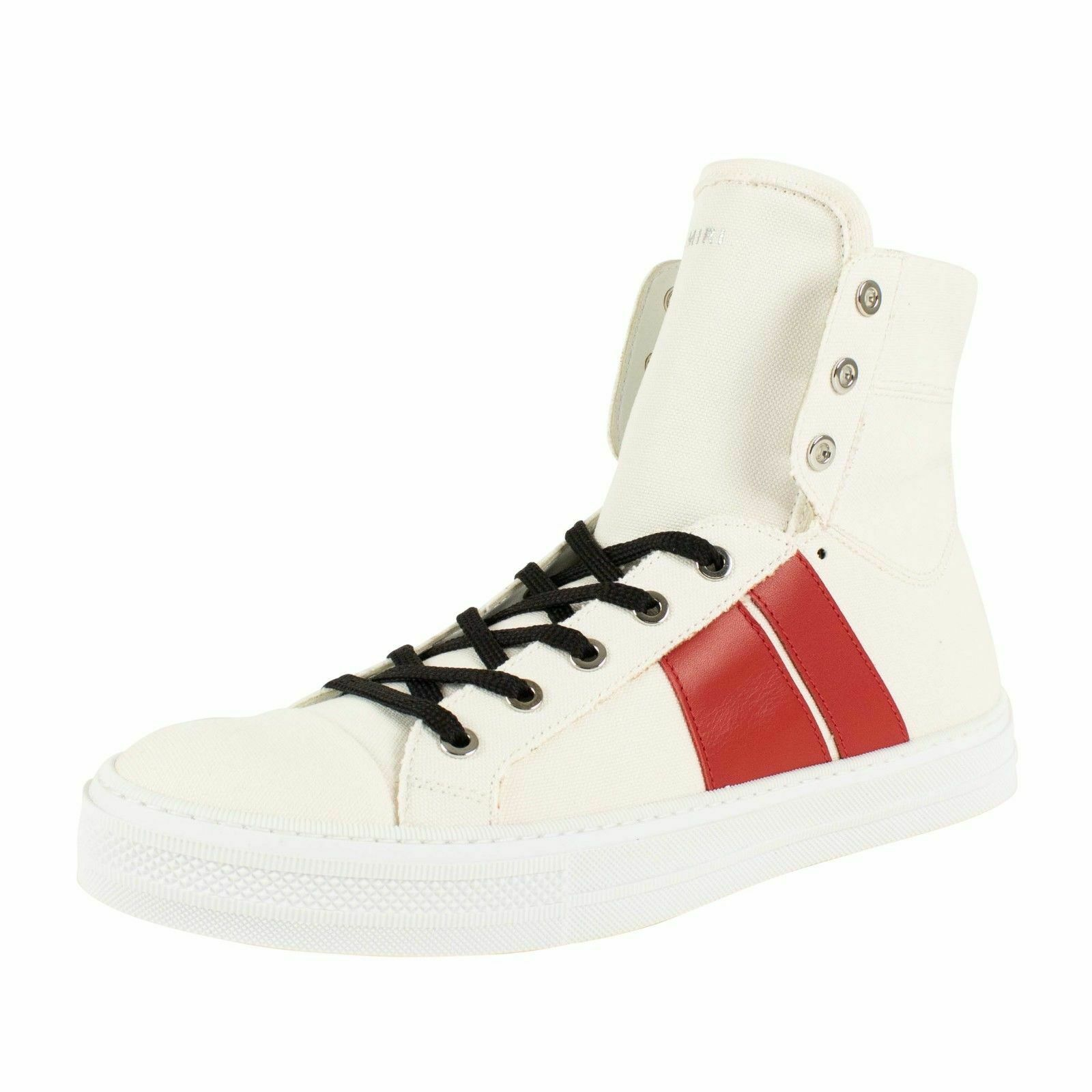 NIB AMIRI 'Sunset' White Red Canvas Sneakers shoes Size 13 US 46 EU  550