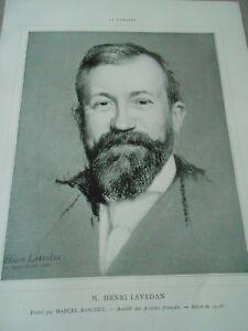 DéLicieux Portrait Théatre M. Henri Lavedan 1908 Service Durable