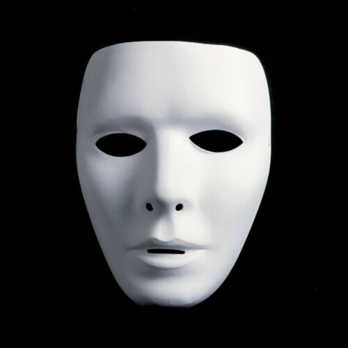 Maschera TEATRO maschera NEUTRO BIANCO maschera maschera per dipingere larga-Uomo Signor MASCHIO