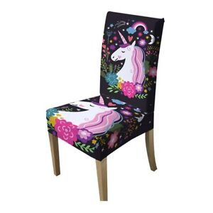 Miraculous Details About Unicorn Chair Cover Dining Spandex Stretch Elastic Slipcover Removable Seat Top Caraccident5 Cool Chair Designs And Ideas Caraccident5Info