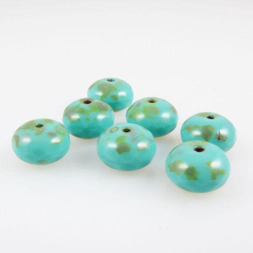 931 7 cristal noble esmerilado perlas faceteados perlas facetada 7x10mm turquesa