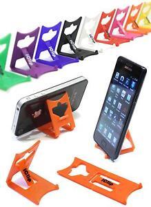 IPhone 4G 4S 5 6, smartphone titulaire orange iClip Pliant Voyage Support de bureau / repos  </span>