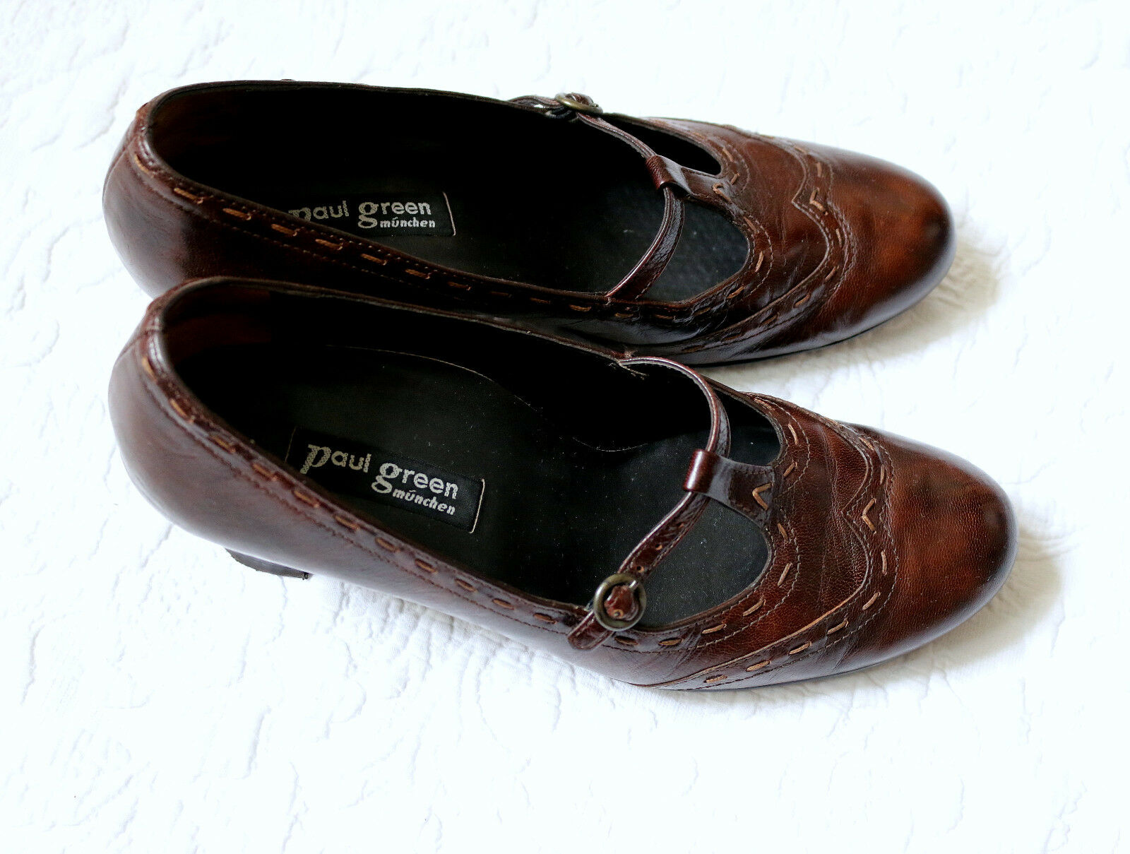 Paul verde comodi PUMPS PELLE MIS. 4 - 37 LEATHER np.99, -  SHABBY