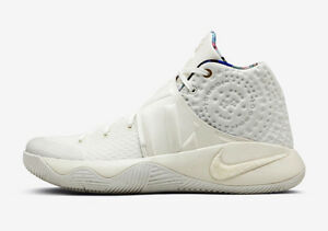 the best attitude 4ca3c cfae8 Image is loading Nike-Kyrie-2-What-The-White-Sail-Size-