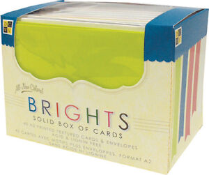 DCWV-Box-Of-A2-Cards-amp-Envelopes-4-375-034-X5-625-034-Bright-Solids-40-Pkg