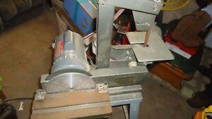 """Vintage Bench Top 1"""" Belt X 8"""" Disc Sander dayton motor no stand"""