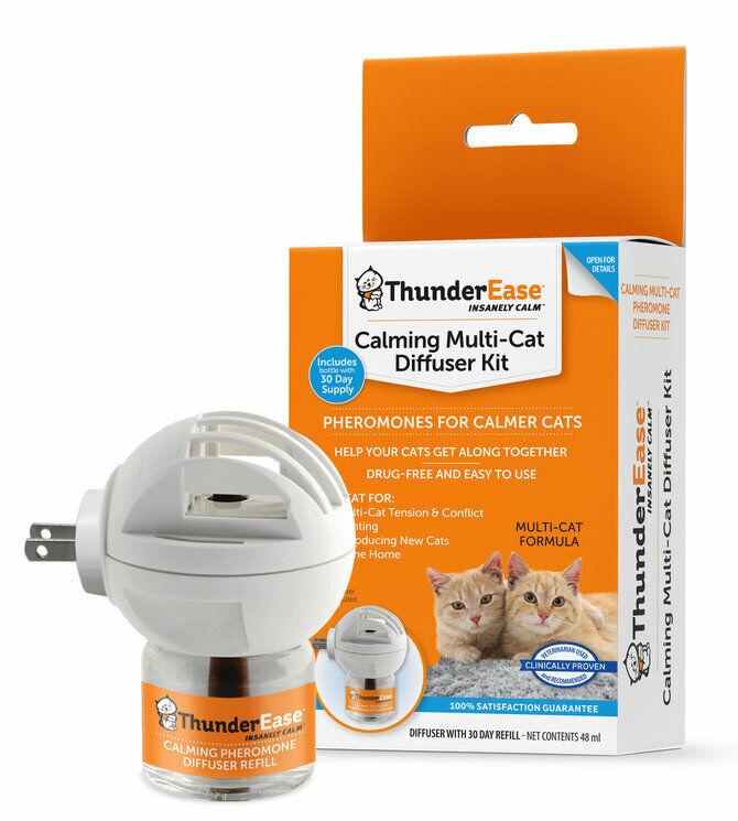 Thunderease Multi Katze Beruhigend Diffusor Set für Naturally Gibt Frei Pheromon  | Economy