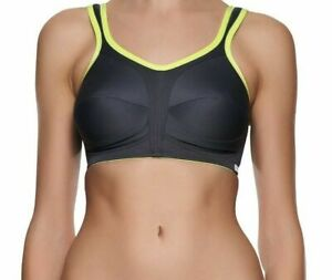 Freya Active Full Cup Non Wired Sports Bra High Impact 4391 Charcoal