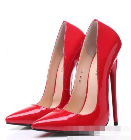 16cm Zapatos Mujer En Punta De Charol Club nocturno nocturno nocturno Tacones De Aguja Súper Plus  comprar descuentos