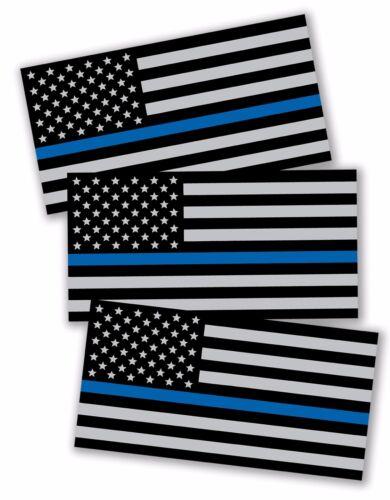 3x Support Police USA Flag Blue Line 2nd Amendment 2A Sticker Decal Lives Matter