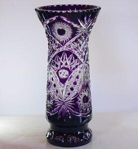 large decorative vase monasteric 44 cm tall dark purple cased crystal russia new ebay. Black Bedroom Furniture Sets. Home Design Ideas