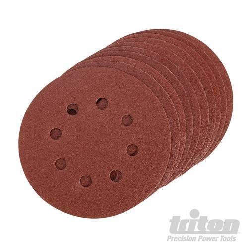 Triton ~ 125 mm Velcro Meules avec trou 240er Grain 10er Conditionnement 850824