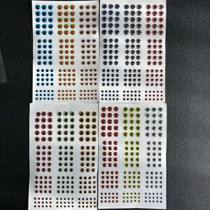 500PCS 3-6mm Fish Eyes 3D Holographic Lure Eyes Fly Tying Jigs Crafts Dolls`US