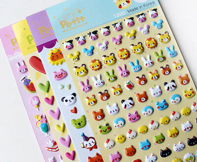 Funny DIY 3D Bubble Stickers Kawaii Cartoon Sticker Toys for kids Creative Gift