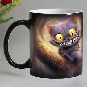 Smile-Cat-Animal-Heat-Sensitive-Coffee-Mug-Cup-Porcelain-Magic-Color-Changing
