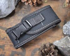 Messer-Etui aus Cordura schwarz 2 Druckknöpfe Gürtelschlaufe für Taschenmesser