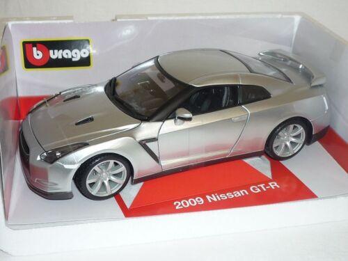 Nissan Skyline GT-R R35 Coupe Silber Ab 2008 18-12079 1//18 Bburago Modell Auto..