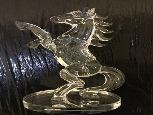Klares Kristallglas Pferd Statue Stehender Figur Dekoration 20 cm/_Geschenkbox