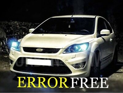 Pour Ford Fiesta MK7 SANS ERREUR CANBUS blanc froid Number Plate DEL Light Bulbs