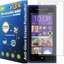 3x Anti-glare Anti-Fingerprint LCD Screen Protector HTC Windows Phone 8X 6990