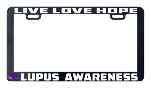 Lupus awareness someone live love hope license plate frame holder