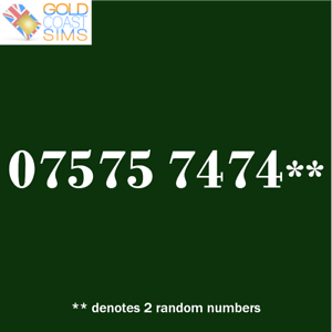 0 75 75 74 74 Repeating Gold Memorable Vip Uk Mobile Phone Number Sim Card Ebay