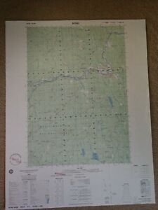 Large-28x22-1986-Topo-Map-Bethel-Maine-Gilead-Newry-Lovell-White-Mountain