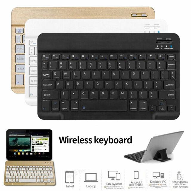 """AU Slim Bluetooth Keyboard For Lenovo TAB 10 E10 M10 P10 2 3 4 10.1"""" inch Tablet"""