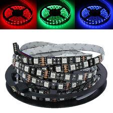 PCB Black 5m 500cm 5050 RGB 300 LED SMD Flexible Light Strip DC 12V