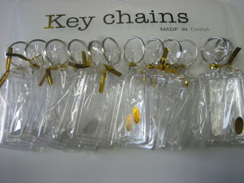 "For Photo Size 1 1//8/"" x 2/"" Lot of 96 8 Dozen Acrylic //New Photo Key Chains"
