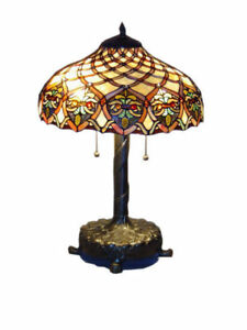 Tiffany style handcrafted baroque style table lamp 16 shade ebay image is loading tiffany style handcrafted baroque style table lamp 16 mozeypictures Images