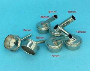 6Pcs Steel Hot Air Gun Nozzle for 861DW Computer Repaired Kit 3//4//5//7//8//10mm Lot