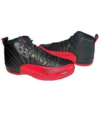 Michael Jordan Signed Autographed Air Jordan 12's Shoes Flu Game Size 13 | eBay