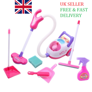 Kids-Vacuum-Cleaner-Hoover-amp-Accessories-Children-Cleaning-Playset-Toy-UK-SELLER