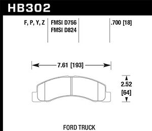 Disc-Brake-Pad-Set-SuperDuty-Disc-Brake-Pad-Front-Hawk-Perf-HB302P-700