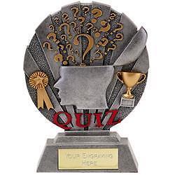 """Quiz Trophy Award/"""" N /""""Quiz Egg head"""